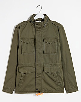 Khaki Casual Four Pocket Jacket