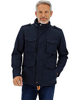 Navy Casual Four Pocket Jacket Long