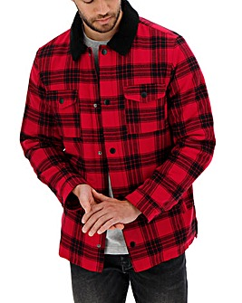 Red and Black Check Overshirt