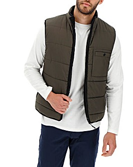 Khaki/Black Reversible Gilet