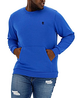 Cobalt Crew Neck Sweatshirt with Pocket