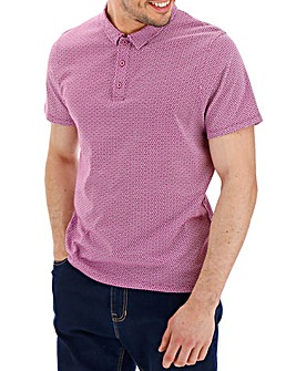 Purple Geo Print Polo Long