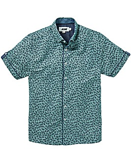 Green Ditsy Printed S/S Shirt L