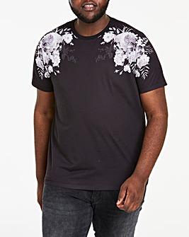Printed Floral Skulls Sub T-Shirt R