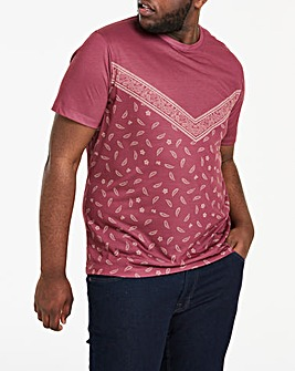 Paisley Chevron Sub Print T-Shirt Long