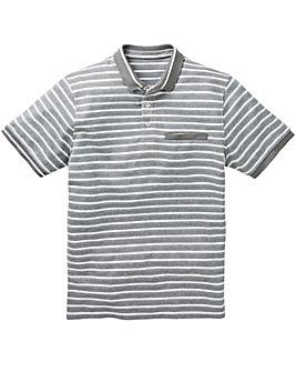 Grey Stripe Detail Polo R