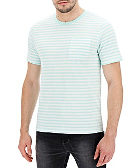 Mint Stripe T-shirt Long