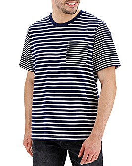 Navy and White Stripe T-shirt Long