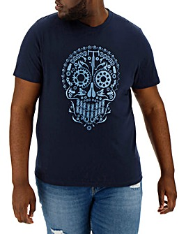 Cog Skull Graphic T-Shirt Long