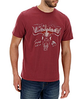 Texas Bull Graphic T-Shirt Long