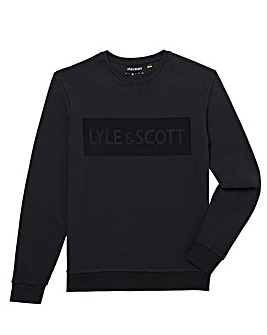 Lyle & Scott Flock Logo Sweat