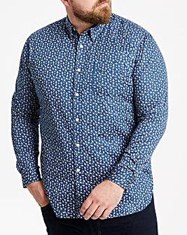 Hammond & Co Blue Paisley Sateen Shirt