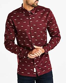 Hammond & Co Hare Sateen Print Shirt