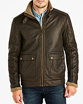 Mantaray Faux Leather Harrington