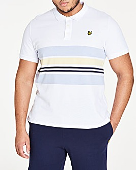 Lyle & Scott Pique Stripe Polo