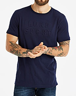 Luke Sport Dark Navy Phelps 3D Letter T-Shirt Regular