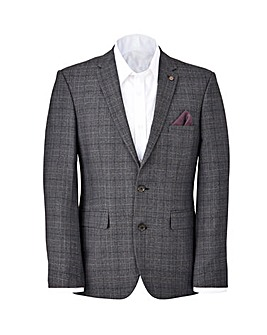 Burton London Grey Check Suit Jacket