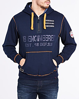Joe Browns Engineered Zip Neck Hoody