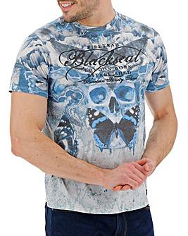 Firetrap Blackseal Silencio T-Shirt Long