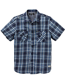 Firetrap Short Sleeve Check Shirt Long