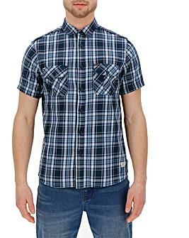 Firetrap Short Sleeve Check Shirt Long