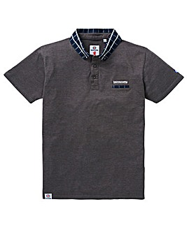 Lambretta Box Contrast Collar Polo Long