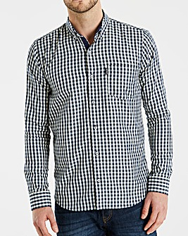 Lambretta Jest Gingham Check Shirt Long
