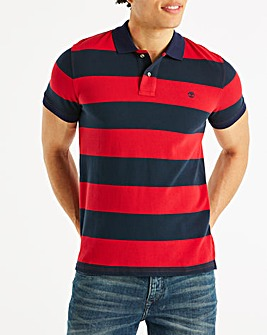 Timberland Tango Red Millers River Stripe Pique Polo Regular