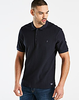 Farah Chevron Textured Polo