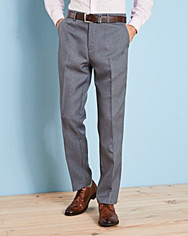 Farah Dark Grey Anti Stain Twill Trousers 27in Leg