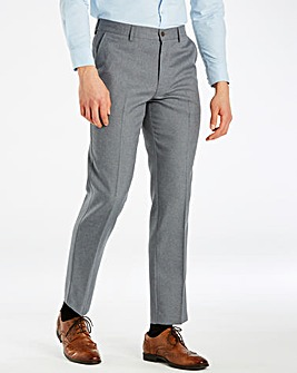 Farah Dark Grey Anti Stain Twill Trousers 29in Leg