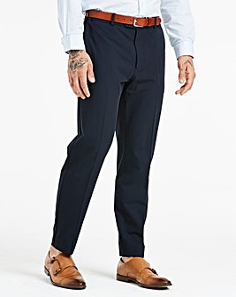 Farah Navy Roachman Stretch Twill Trousers 29in Leg