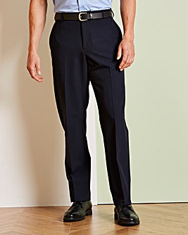 Farah Navy Stretch Twill Trouser 29in