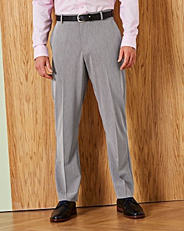 Farah Grey Roachman Stretch Twill Trousers 31in Leg