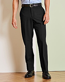 Farah Black Stretch Twill Trousers 27in