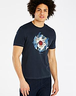 Ben Sherman Navy Chevron T-Shirt Regular