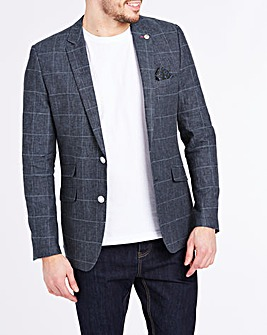 Joe Browns Window Pane Linen Mix Check Blazer