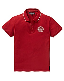 Crosshatch Dark Red Seton Polo Regular