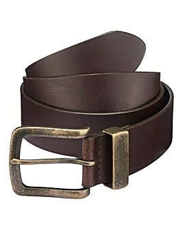 Wrangler Leather Metal Loop Belt