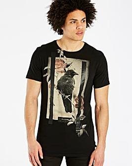 Religion Black Lone Crow T-Shirt L
