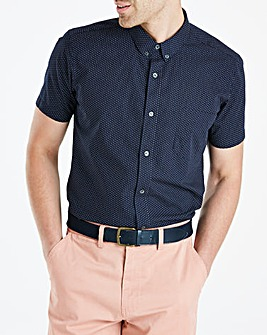 French Connection Blue Mini Dot Print Shirt