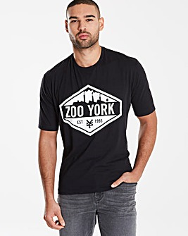Zoo York Black Anvial T-Shirt L