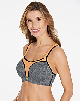 Panache Hi Impact Wired Grey/Oranges Sports Bra
