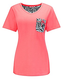 Joe Browns Zebra Print Jersey Top