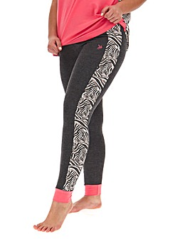 Joe Browns Zebra Trim PJ Leggings
