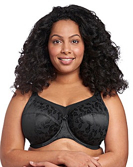 Goddess Petra Full Cup Wired Black Bra