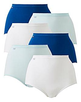 Sloggi 6Pack Maxi Briefs,Turquoise Multi