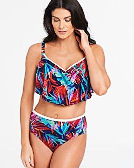 Elomi Paradise Palm Flounce Bikini Top