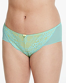 Ann Summers Lace 2 Shorts Mint/Lemon