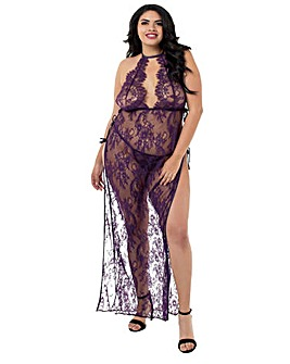 Dreamgirl Toga Style Lace Gown